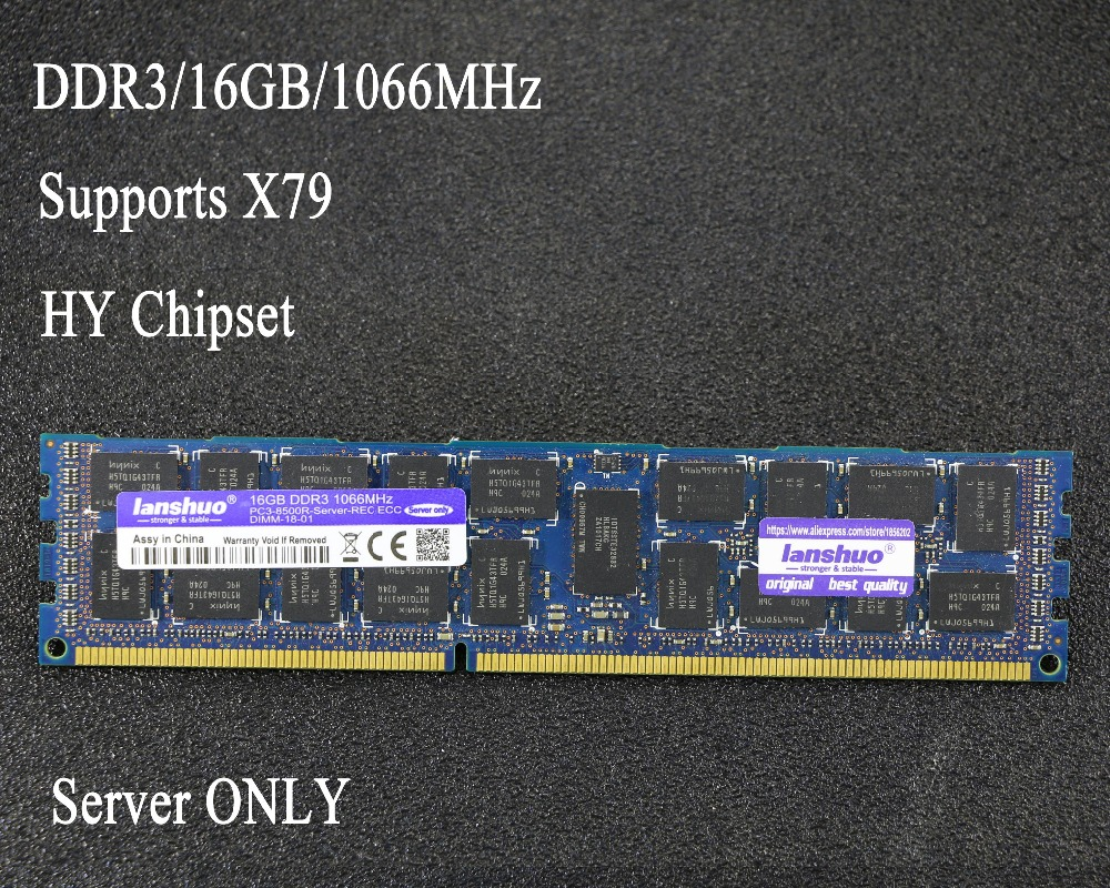 Original Chipset 16 GB DDR3 1333 MHz 1600 Mhz 16G 1333 REG ECC servidor RAM memoria de trabajo 16 gb 24 gb 16g 24g 32 gb 32g X79 placa base