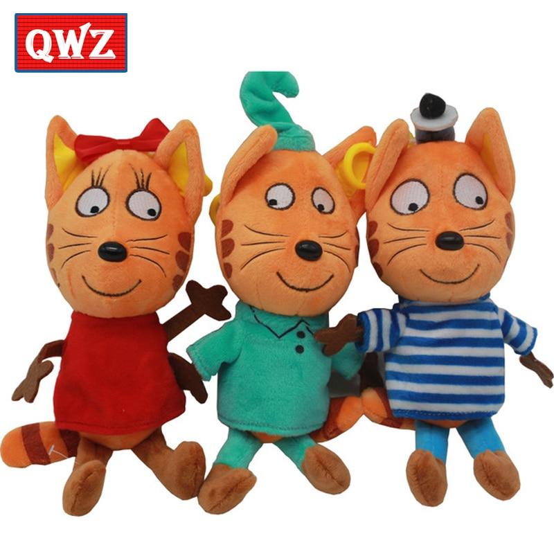 QWZ 3pcs / lot Русский мультфильм три - Мягкие и плюшевые игрушки