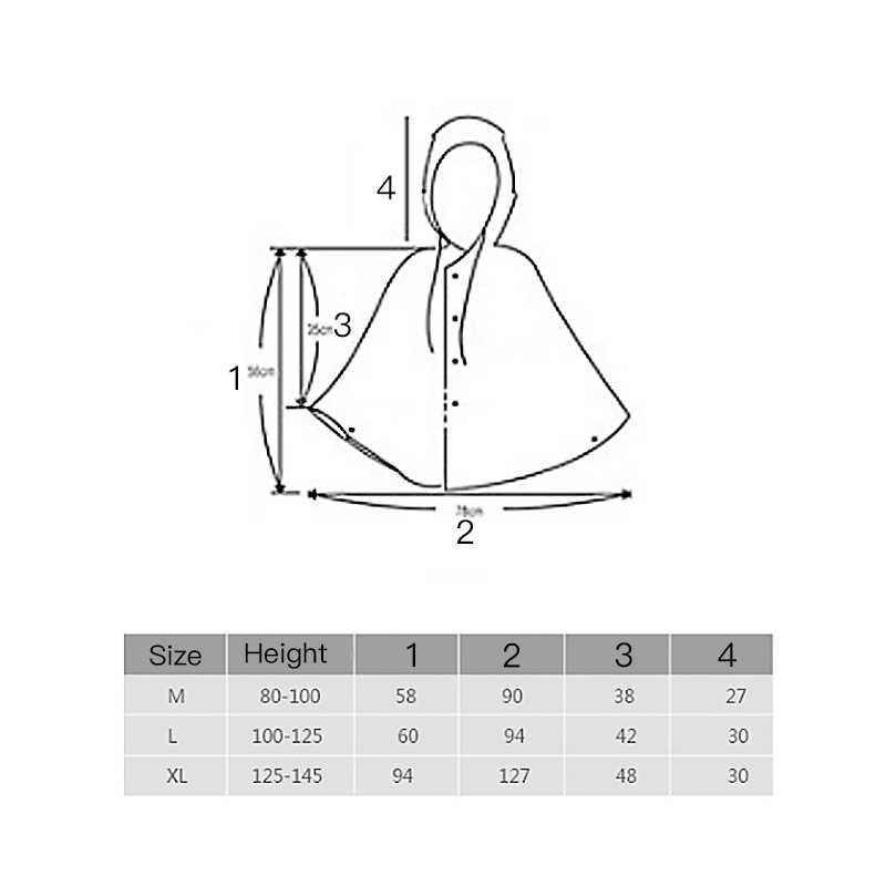 Красный плащ-дождевик для девочек, накидка для мальчиков, детский плащ-дождевик с сумкой из искусственной кожи, трикотажная ткань, светоотражающая полоска, пончо Z807