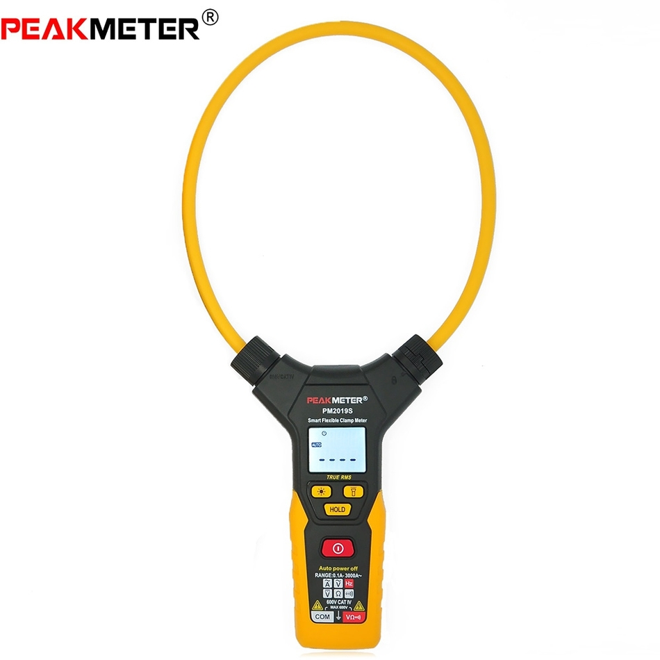 PEAKMETER PM2019S Mini Digital Multimeter Handheld Flexible Clamp Meter AC Current Resistance Frequency profession Multi tester цена