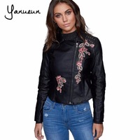 Yanueun New Fashion Women Autunm Winter Fashion Good Quality Ladies Basic Street Women Short PU Leather