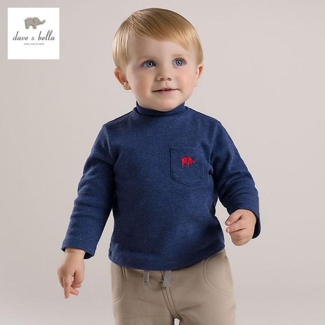 DB2915 дэйв белла осень мальчиков 100% хлопок футболка бутик наряды детская одежда ребенок Футболка детская одежда высокого качества