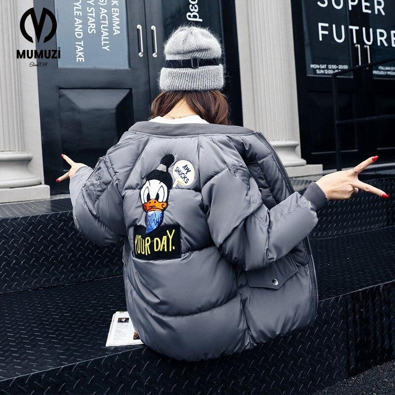 MUMUZI Winter parkas Army Green bomber font b jacket b font font b Women b font
