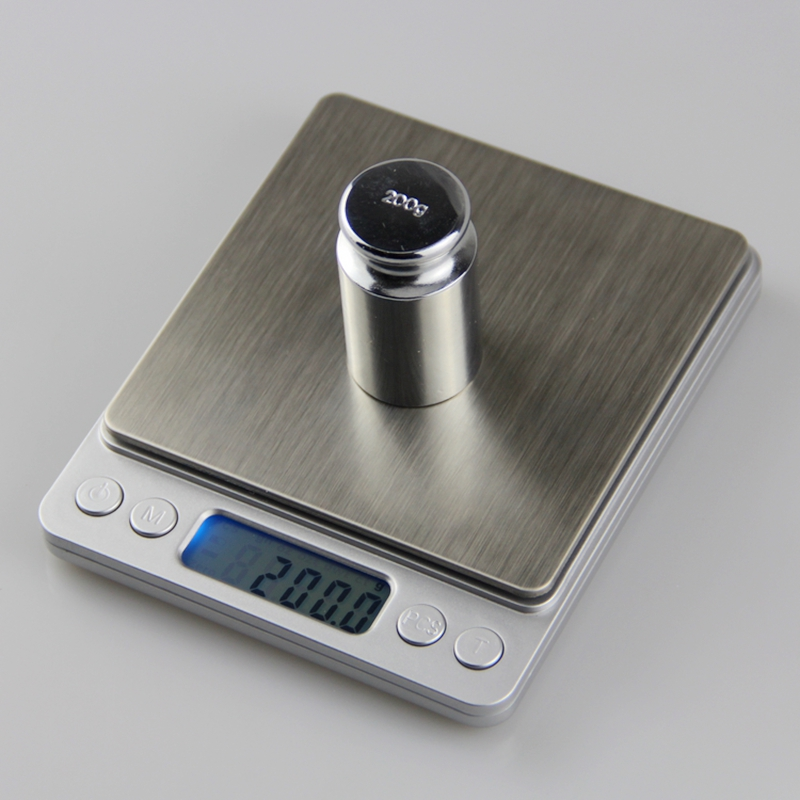 Bilancia elettronica da cucina 3kg 0.1g 3000g 0.1g LCD Tasca digitale Bilancia dietetica Bilancia da laboratorio per gioielli Bilancia con due vassoi 4 Unità