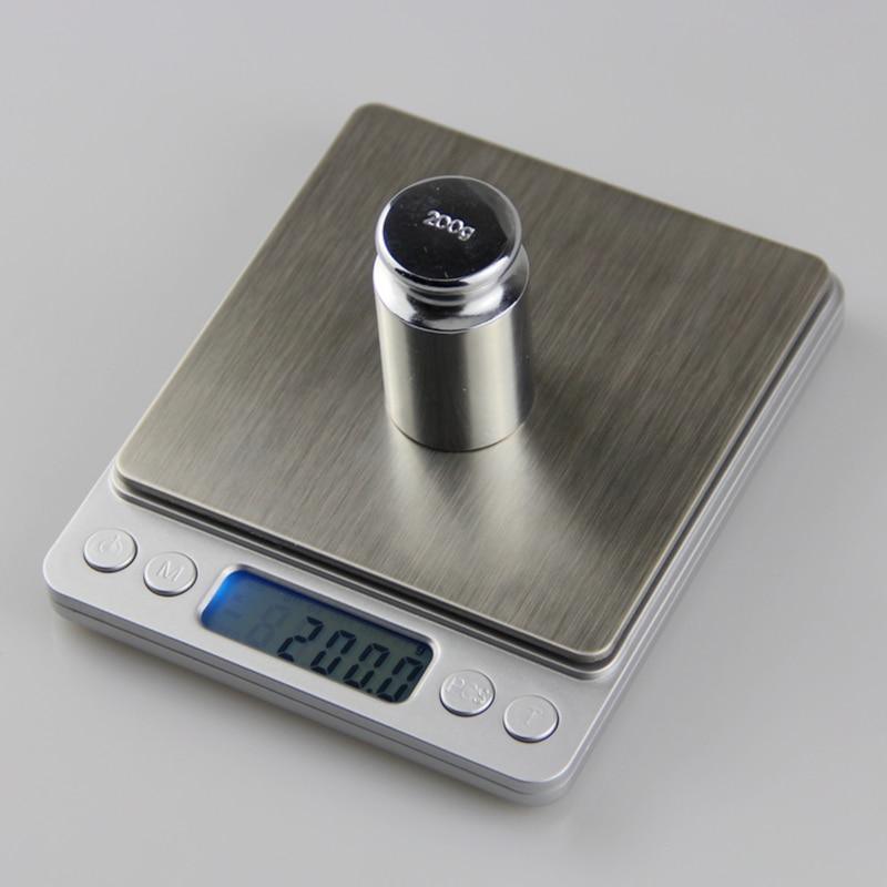 3kg 0.1gキッチン電子スケール3000g 0.1g LCDデジタルポケットフードダイエットスケールジュエリーラボ重量バランス2トレイ4ユニット