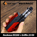 Wismec reuleaux rx200 kit & geekvape original griffin 25 rta 6 ml Capacidade de Fluxo de Ar Inferior vs 200 w TC RX200 Mod Eletrônico Cig