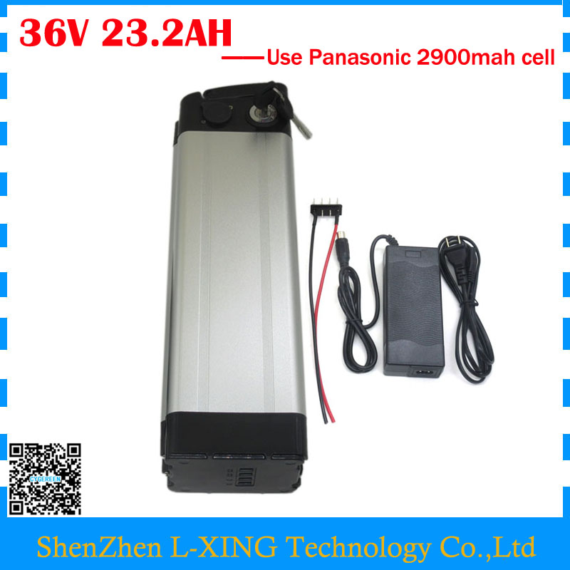 Free customs duty electric bicycle 36V 23.2AH battery 36 V 23AH use Panasonic 2900mah cell with aluminum case with 30A BMS free customs taxes super power 1000w 48v li ion battery pack with 30a bms 48v 15ah lithium battery pack for panasonic cell