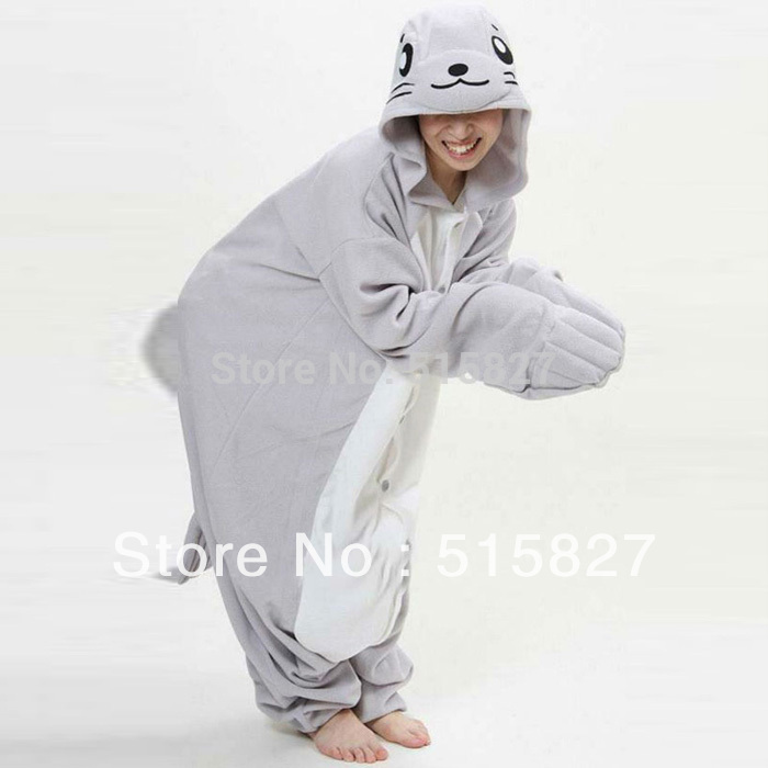 Hot JP Anime Dolphin Costume Adult all in one Pyjamas Hoodie Animal Pajamas for Performance