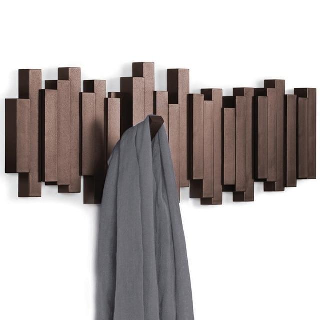 Creatieve haak achter de muur muur kleren kleerhanger woonkamer woondecoratie De sleutel om de deur van de plank op de wa