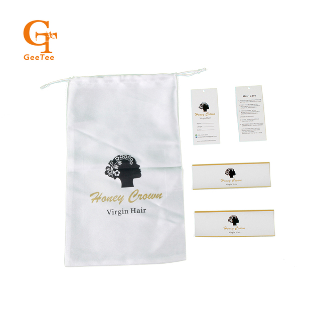 Custom Virgin Human Hair Extension Packaging Bags Price Hang Tags