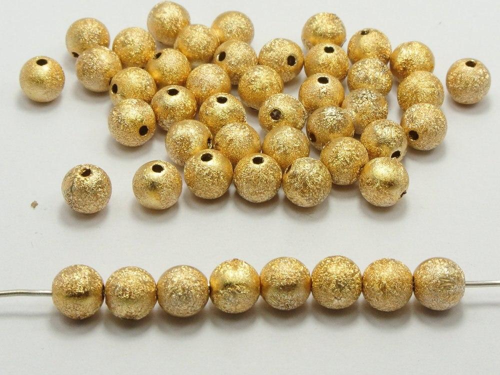 200 Золото Stardust Акриловые круглые Бусины Spacer Поиск по крайней мере $15 (можно смешивать. Заказ)