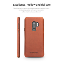 QIALINO Ultra Slim Genuine Leather Back Case for Samsung Galaxy S9, S9Plus