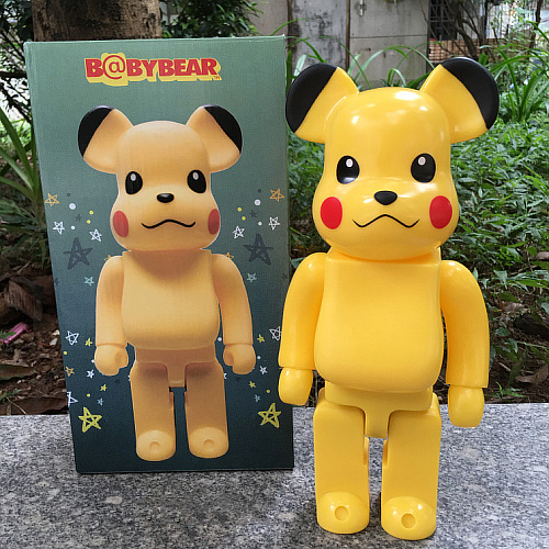 High Quality 11inch 400% bearbrick Pikachu be@rbrick medicom toy with retail box replica hot selling oversize 1000% bearbrick luxury lady ch be rbrick medicom toy 52cm zy503