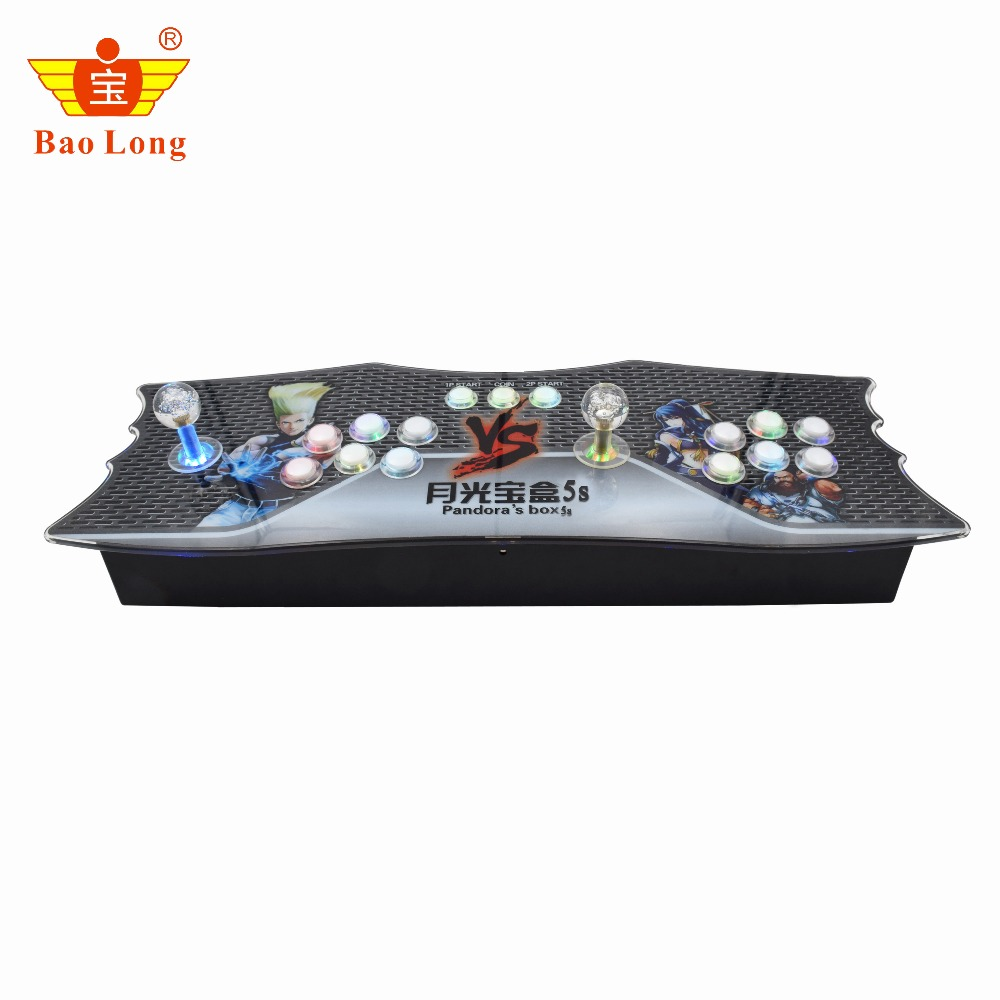 2019 Hot Sale 1388 in 1 Pandora box 6S TV jamma arcade game console with colorful LED push buttons box 6s VGA HDMI output
