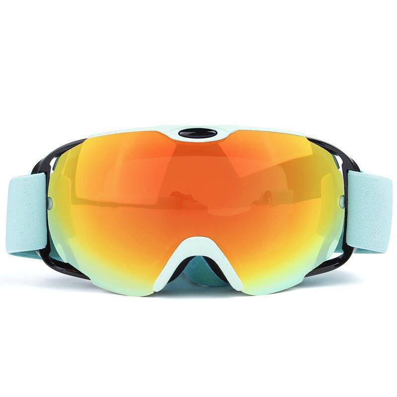 Prix pour Professionnel Lunettes de Ski À Double Lentille Anti-brouillard UV400 Grand Ski Lunettes Ski Snowboard Hommes Femmes Motoneige Googles Vente Chaude