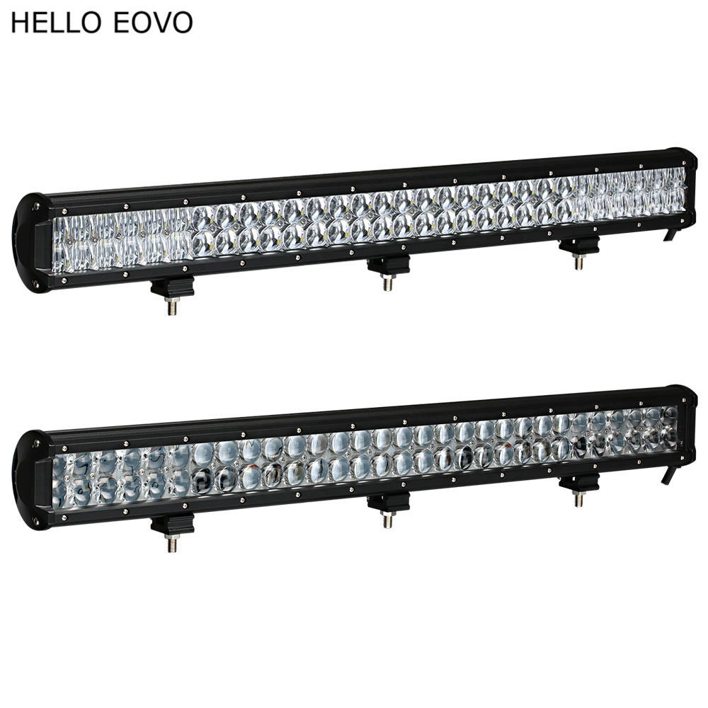 HELLO EOVO 4D 5D 28 Inch LED Light Bar for Work Indicators Driving Offroad Boat Car Tractor Truck 4x4 SUV ATV 12V 24v цена