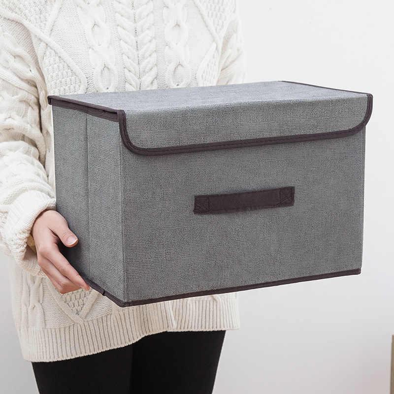 2 шт. Нетканая коробка для хранения Складная покрытая одежда сумка для хранения нижнего белья шкаф Органайзер шорты бюстгальтер отделка контейнер M/L