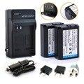 2 unids np-fw50 fw50 npfw50 baterías + cargador para sony nex-7 NEX-5N NEX-F3 SLT-A37 A7 NEX-5R NEX-6 Alpha NEX-3 NEX-3A 7R II