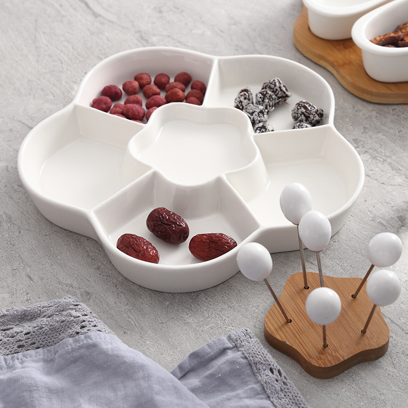 Round combination Fruits Platter Serving Trays 3