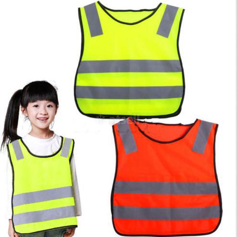High Visibility Pupil Child Student Kids Reflective Traffic Vest Scooter Cycling School Safety Vest Jacket