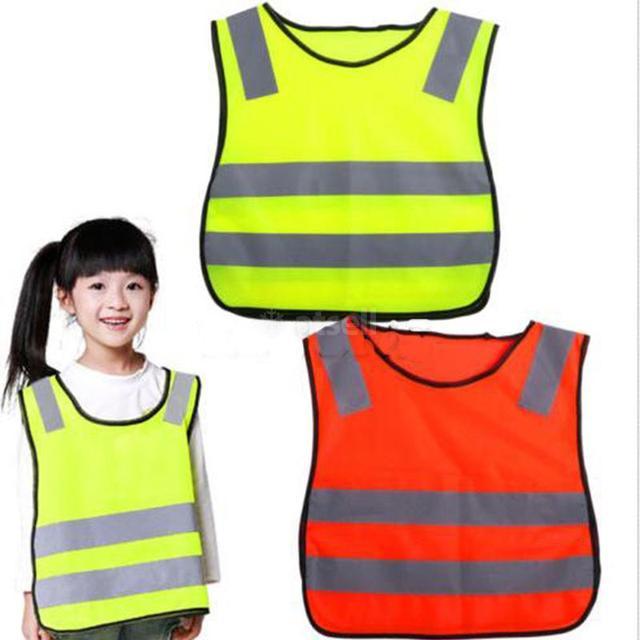 Khả Năng Hiển Thị cao Học Sinh Trẻ Em Dành Cho Trẻ Em Phản Quang Giao Thông Vest Xe Tay Ga Đi Xe Đạp Trường An Toàn Áo Khoác Vest