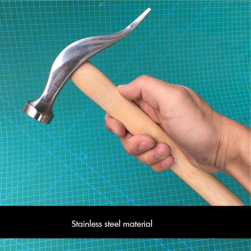 Stainless Steel Shoes Repairs Hammer With Wood Handle Shoemaking Repairing Hammer Woodworking Hammer Shoe Leather Hardware Tool