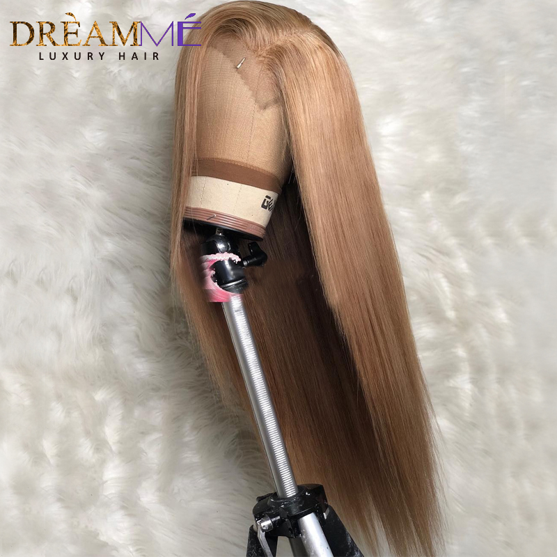 Blonde Straight Lace Front Human Hair Wig Preplucked 13X6 Deep Part Lace Human Wigs Brazilian Remy Blond Wigs For Black Women