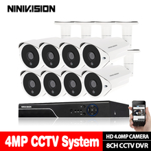 Home 8CH Surveillance Network DVR built-in 1TB hard disk Day Night Waterproof Camera DIY Kit CCTV Security 8CH Video System цена 2017
