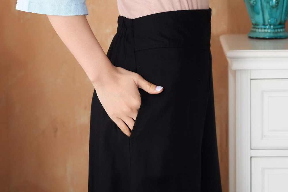 新着ライトブルー黒の中国の女性のシャツパンツセット綿リネン唐スーツ服サイズ SML XL XXL xxxl 2619 から 3