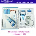 2016 blue waterproof  recharged  tool  with adaptor  Foot Care Exfoliating with roller heads scholls function  box pack  KIMISKY