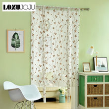 LOZUJOJU Free shipping Made Embroidered leave rod pocket brown ready roman for white door curtain short blinds curtains balloon(China)