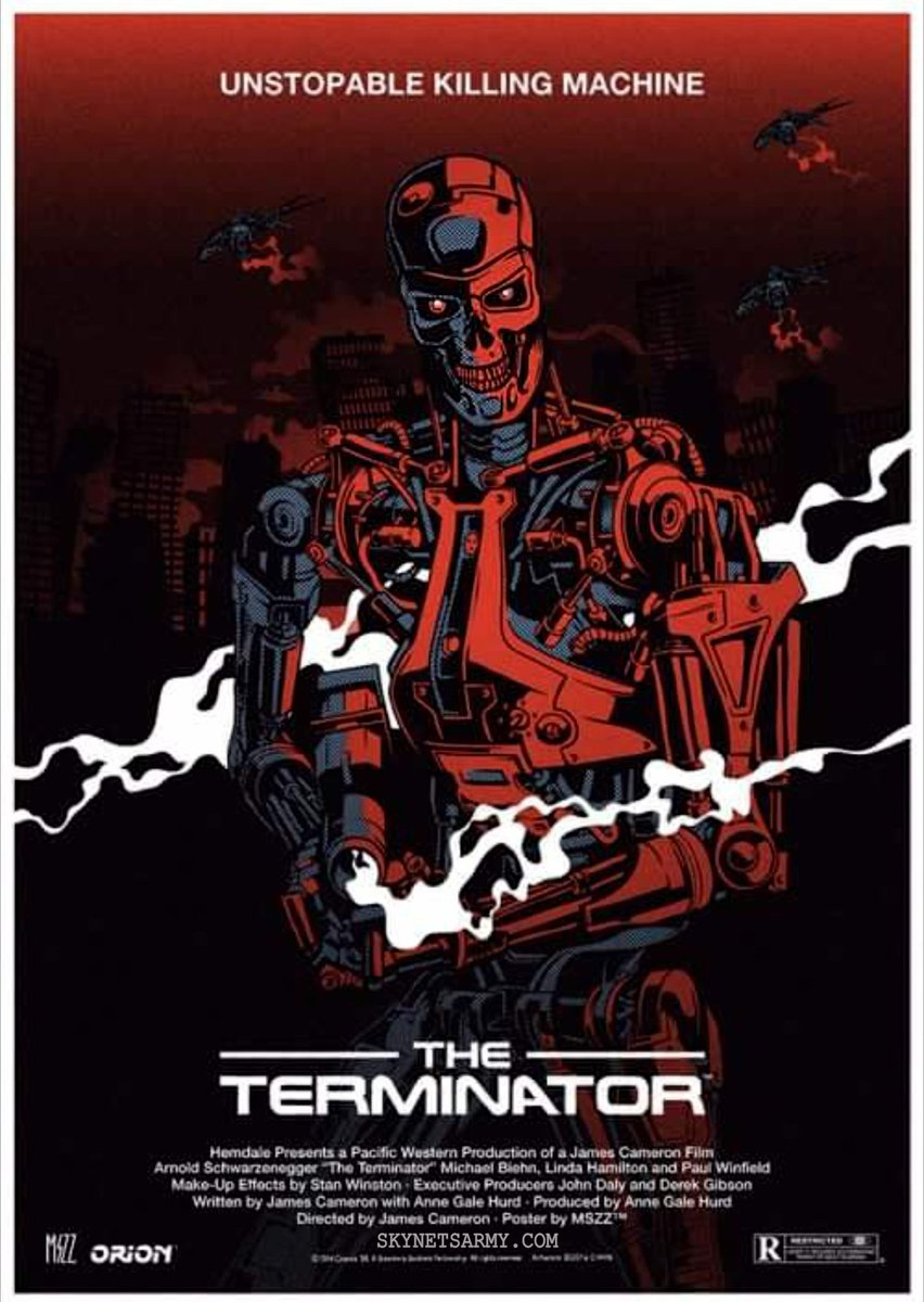sci fi terminator unstopable killing machine retro vintage movie