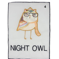 Clothes patch Apparel Sewing & Fabric cute NIGHT OWL orange logo, cartoon patches for clothing home DIY free shipping
