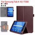 Alta Qualtiy PU Estojo De Couro Para Samsung Galaxy Tab Um A6 10.1 2016 T580 SM-T585 T580N Casos Capa Tablet Mão Titular Shell Funda