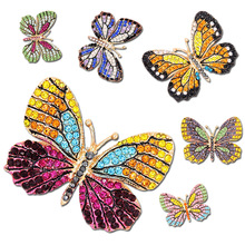 Rainbow Butterfly Brooch Pin Crystal Rhinestone Insect  Women Garment Fashion Jewelry Gift Accessory 2016 Multi Colors