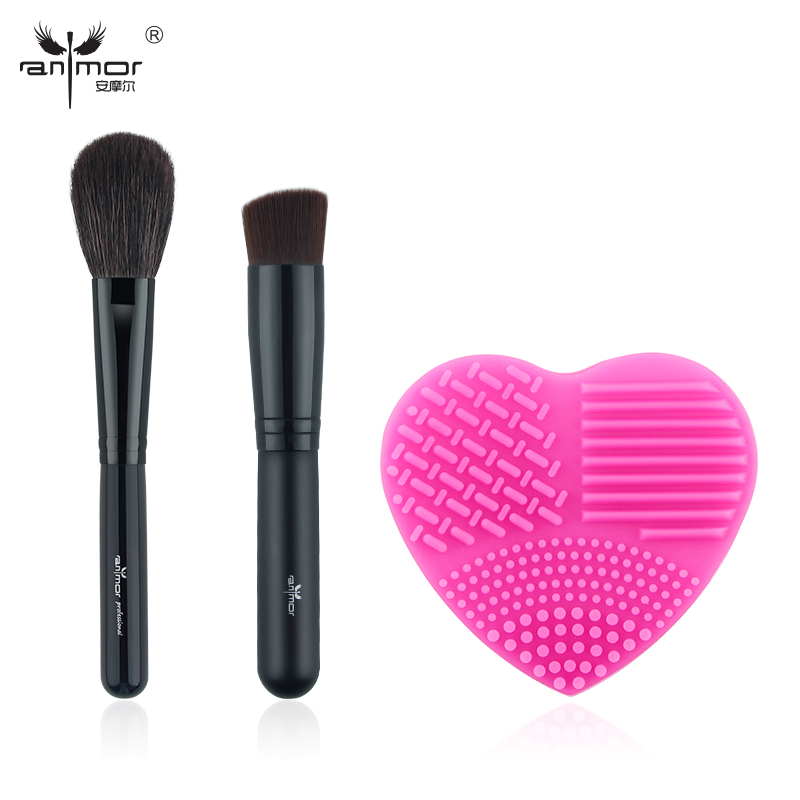 Anmor New Professional Make Up Brushes Kit Powder Foundation Makeup Brush Cleaner Tool DB-02 тушь make up factory make up factory ma120lwhdr04