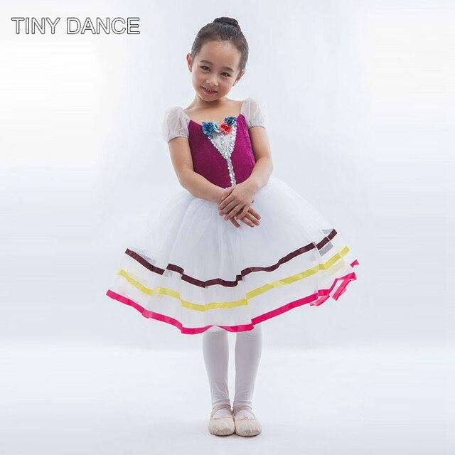 ba108127bf2 Top Vente Ballerine De Danse Robe Filles Ballet Tutu Costumes de Scène  Blanc Romantique Tutu Robes