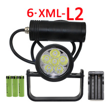 Underwater 6x XM-2 LED Diving flashlight Waterproof Portable Led light Scuba dive Torch Lamp Light USE 3 x 18650 Battery