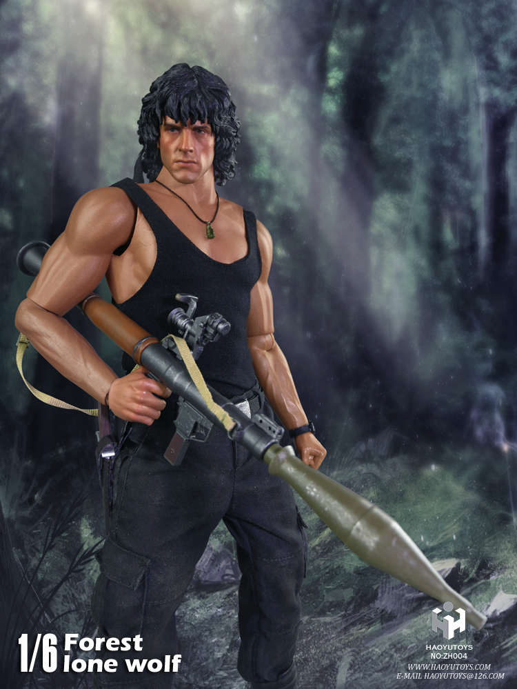 1/6 scale figure Collectible Model plastic toy First Blood John J. Rambo Jungle wolf Sylvester Stallone 12 Action figure doll sylvester