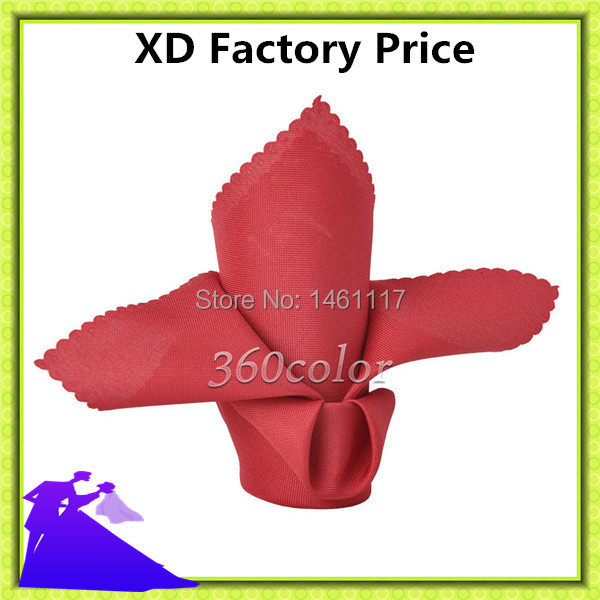 Factory directly 20x20 Polyester plain Napkin match the table cloth factory manufacture
