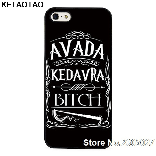 KETAOTAO Avada Kedavra Bitch for <font><b>Harry</b></font> <font><b>Potter</b></font> Phone <font><b>Cases</b></font> for <font><b>iPhone</b></font> 4S SE 5 5C 5S 6 6S 7 <font><b>8</b></font> Plus X <font><b>Case</b></font> Soft TPU Rubber Silicone image