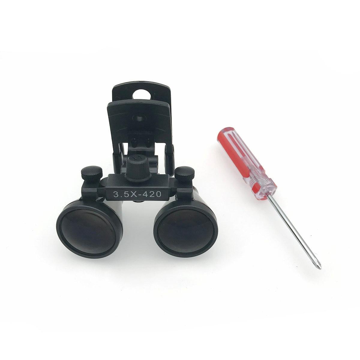 Novo Clipe tipo Galileo Magnifier com Lupas Cirúrgicas Dental Lupas para Médicos compatível todos os tipos de óculos