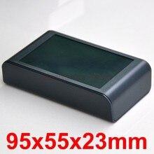Desktop Instrumentation Project Enclosure Box Case, Full Black, 95x55x23mm.