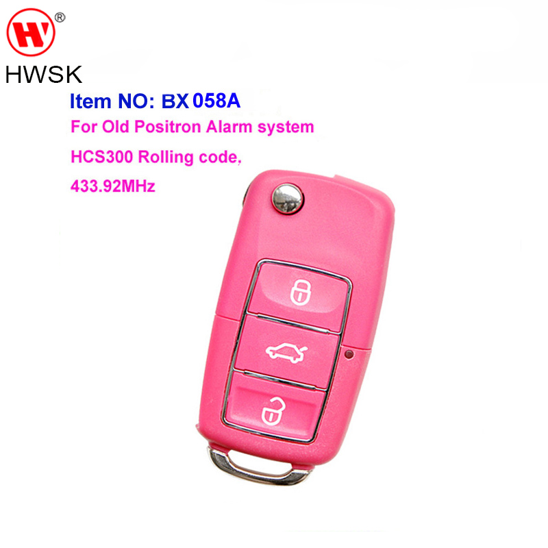 wholesale BX058A VW Luxury style 3buttons remote car key for old Positron alarm remote key with