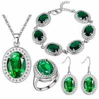 Earrings Ring Pendant Necklace BRACELET JEXXI Luxury High Quality Bride Wedding Jewelry Sets 925 Sterling Silver