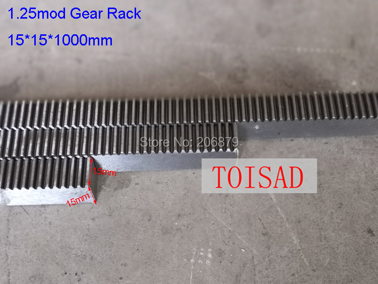 Free Shipping 10Pcs 1 25M Mode 15 15 1000mm Gear Rack Straight Teeth Precision Toothed CNC