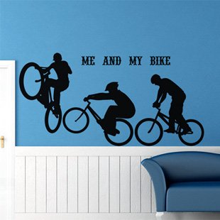 Free Shipping Wholesale  Wall stickers Home Garden Wall Decor  Vinyl Removable Art Mural Home decor COOL Bike d-47