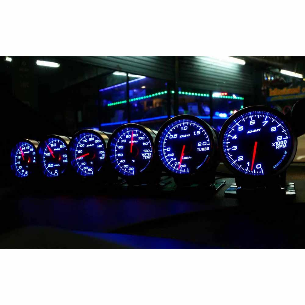 Defi Advance BF CR C2 RS 2.5 Inch 7 Colors Daisy Chain Auto Gauge mete Water Temp Oil Temp Oil Press Tachometer RPM Turbo Boost цены онлайн