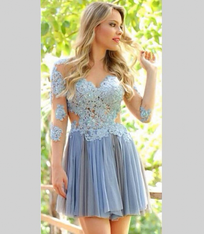 Idyllic Long Sleeve Short Lace Homecoming Dresses 2016 Graduation Dresses Sexy Prom Homecoming Dresses From Weddings Events Long Sleeve Short Lace Homecoming Dresses 2016 Graduation Dresses wedding dress 8th Grade Graduation Dresses