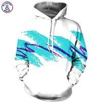 Simple Watercolor Digital Printing Men Women Hoodies With Cap Sports 3d Hooded Sweatshirts Autumn Winter Fashion
